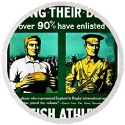 Recruiting Poster - Britain - Rugby Round Beach Towel