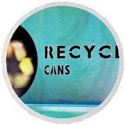 Recycle Cans Round Beach Towel