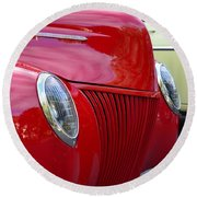 Red 40 Ford Round Beach Towel