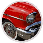 Red '57 Round Beach Towel