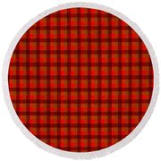 Red And Black Checkered Tablecloth Cloth Background Round Beach Towel