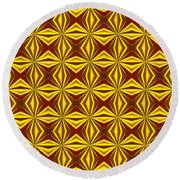 Red And Gold Christmas Abstract Round Beach Towel