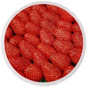 Red And Ripe Round Beach Towel
