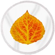 Red And Yellow Aspen Leaf 6 Round Beach Towel