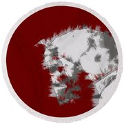 Red Andalusian Round Beach Towel
