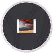Red Arizona Sky Round Beach Towel
