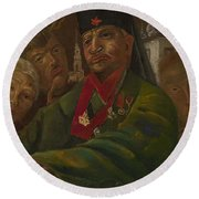 Red Army General Round Beach Towel