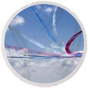 Red Arrows Aerobatic Display Team Round Beach Towel