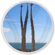 Red Arrows Memorial Round Beach Towel