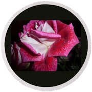 Red Beauty Round Beach Towel