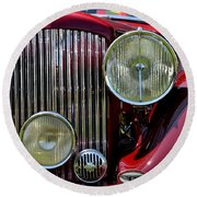 Red Bentley Grill Round Beach Towel