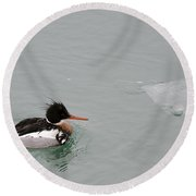 Red-breasted Cruising Round Beach Towel