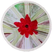 Red Brilliance Round Beach Towel by Sonali Gangane