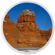 Red Canyon Dixie National Forest Round Beach Towel