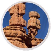 Red Canyon Utah Round Beach Towel