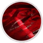 Red Chair II Round Beach Towel