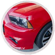 Red Charger 1508 Round Beach Towel