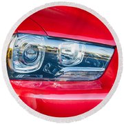 Red Charger 1521 Round Beach Towel