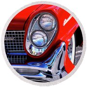 Red Hot Continental Palm Springs Round Beach Towel