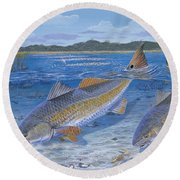 Red Creek In0010 Round Beach Towel