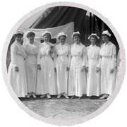 Red Cross Nurses, 1916 Round Beach Towel