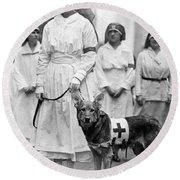 Red Cross Parade, 1920 Round Beach Towel