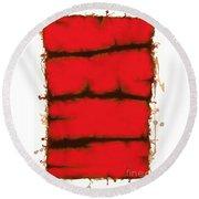 Red Element Round Beach Towel