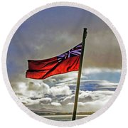Red Ensign Round Beach Towel