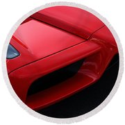 Red Enzo Round Beach Towel