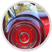 Red Ford Tailight Round Beach Towel