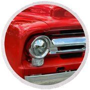 Red Ford Truck Round Beach Towel