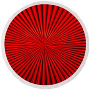 Red Glass Abstract 1 Round Beach Towel