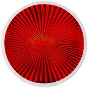 Red Glass Abstract 4 Round Beach Towel