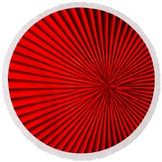 Red Glass Abstract 5 Round Beach Towel