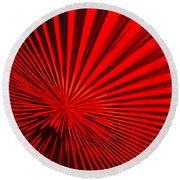 Red Glass Abstract 6 Round Beach Towel
