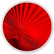 Red Glass Abstract 7 Round Beach Towel