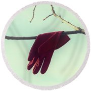 Red Glove Round Beach Towel