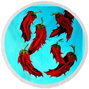 Red Hot Chili Peppers Round Beach Towel