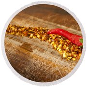 Red Hot Chilli Concept Round Beach Towel