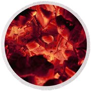 Red Hot Love Round Beach Towel