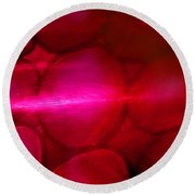 Red Hot Mystery Round Beach Towel