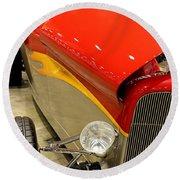 Street Car - Red Hot Rod Round Beach Towel