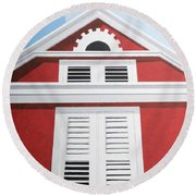 Red House Round Beach Towel