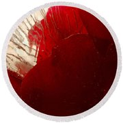 Red Ice Round Beach Towel