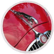 Red Jaguar 3.8 Round Beach Towel