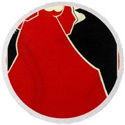 Red Lady The Chap Book1895 Round Beach Towel