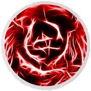 Red Lettuce Round Beach Towel