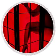 Red Light Round Beach Towel