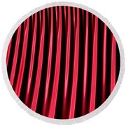 Red Lines Round Beach Towel