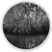 Red Mangroves Number 1 Round Beach Towel
